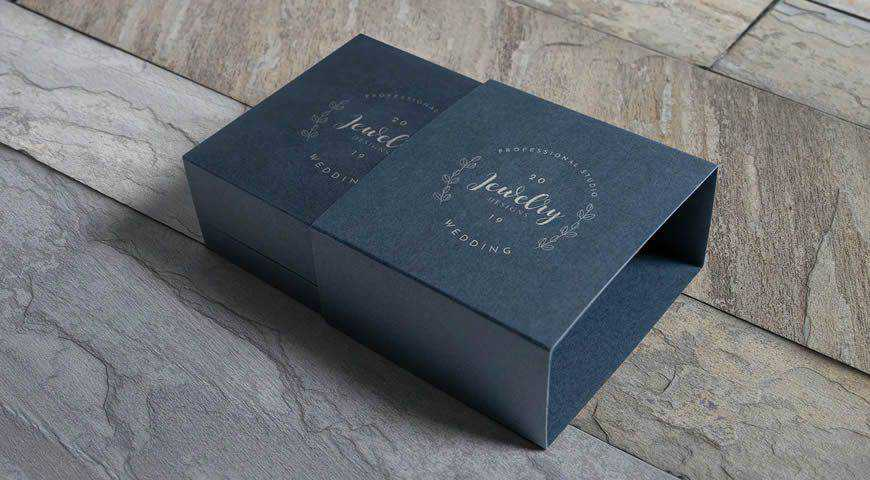 Jewelry Packaging Box Photoshop PSD Mockup Template