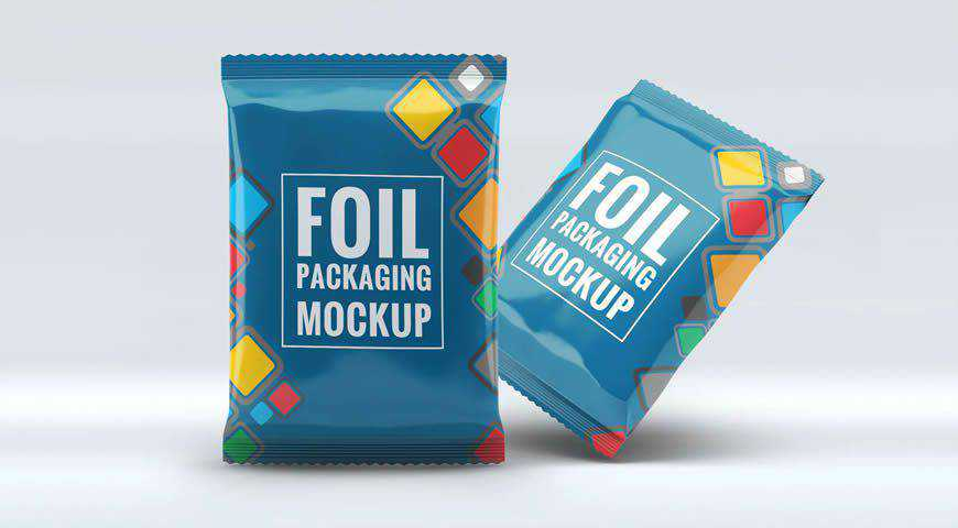 Foil Packaging Photoshop PSD Mockup Template