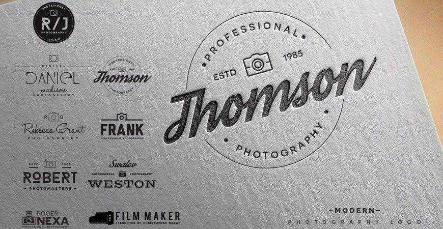 Modern Photography Logo Templates photographer camera