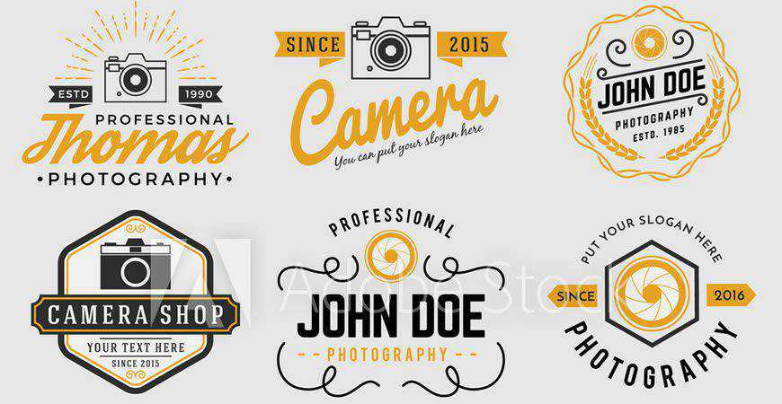 Two-Tone Photography Logo Templates photographer camera photography
