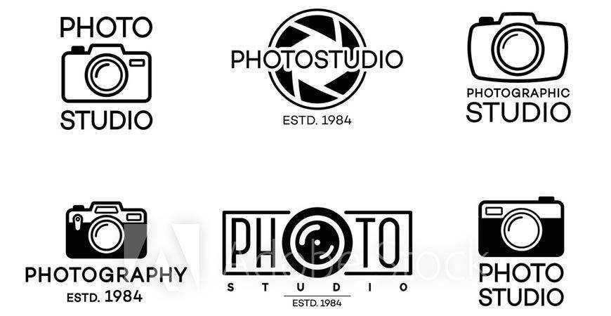 Studio Logo Label Templates photographer camera photography