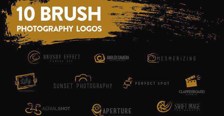 Brush Logo Templates photographer camera photography