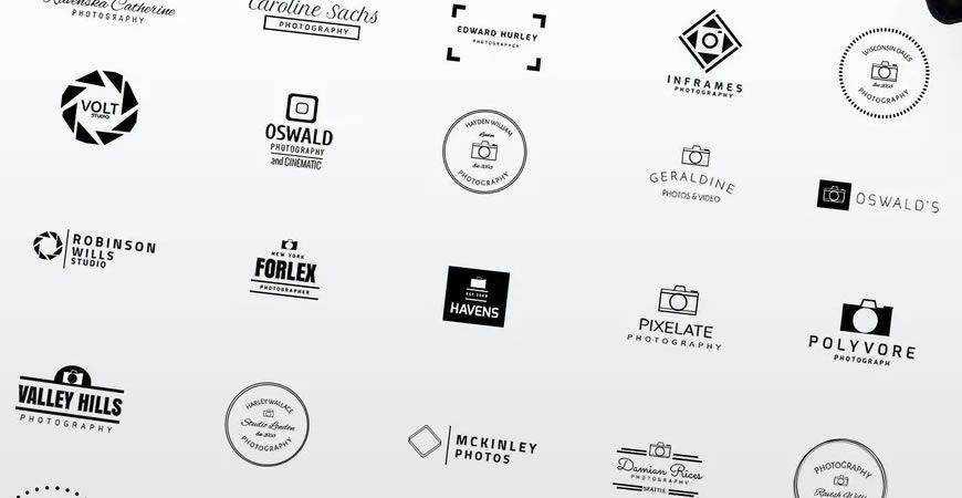 Minimalist Logo Template photographer camera photography