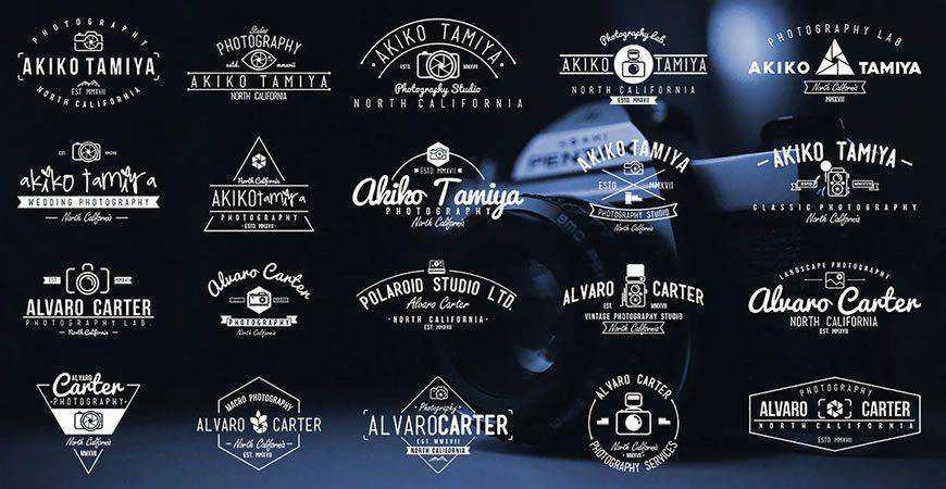 Vintage Photography Badges Logos photographer camera photography