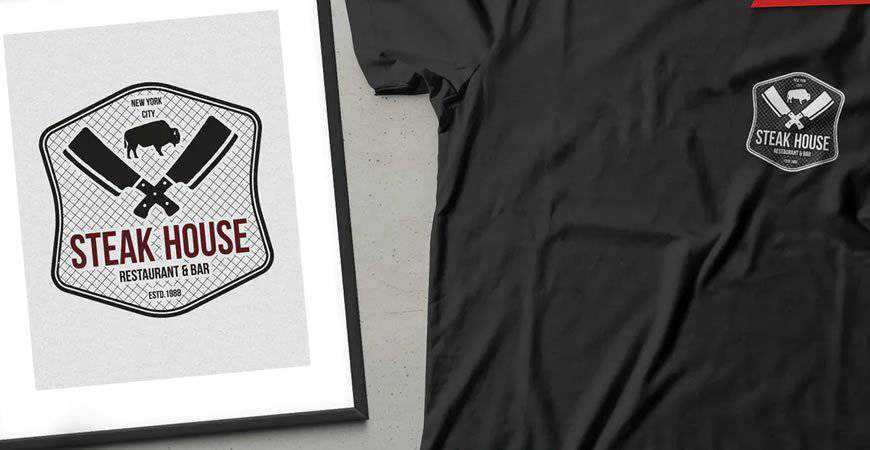Steak House Logo Template restaurant cooking food
