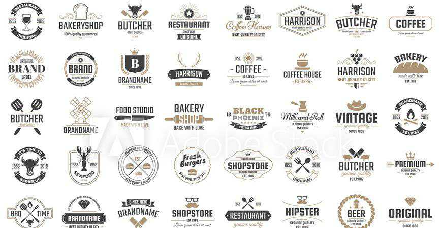 Retro Vector Restaurant Logo Template restaurant cooking food