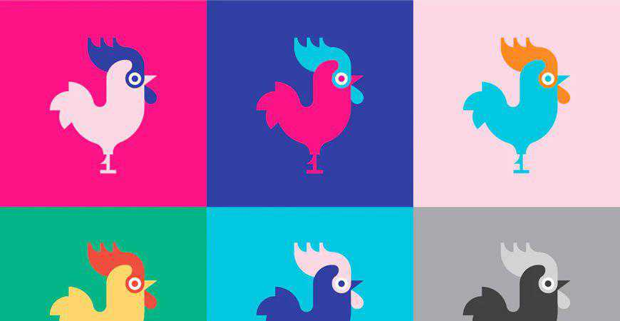 Rooster Logo Template restaurant cooking food