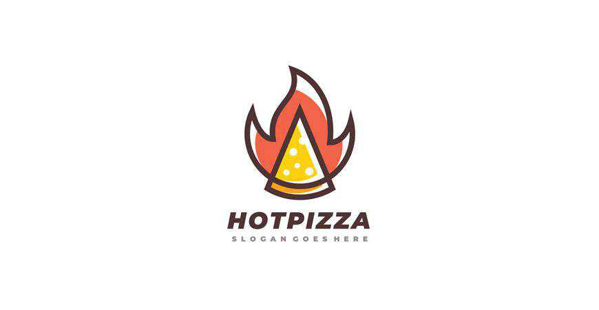 Hot Pizza Logo Templates restaurant cooking food