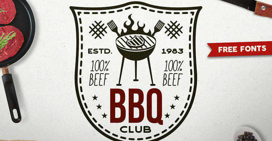 BBQ Club Logo Template restaurant cooking food