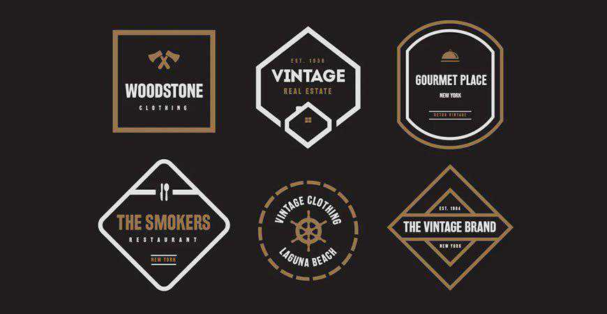 Vintage Label Badge Logo Templates restaurant cooking food
