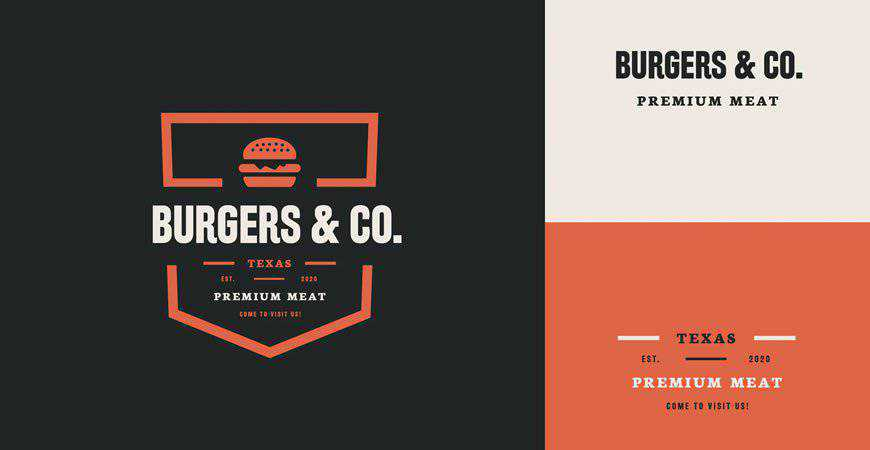 Burgers Logo Template restaurant cooking food