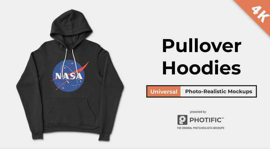 Pullover Hoodie Sweatshirt Photoshop PSD Mockup Template