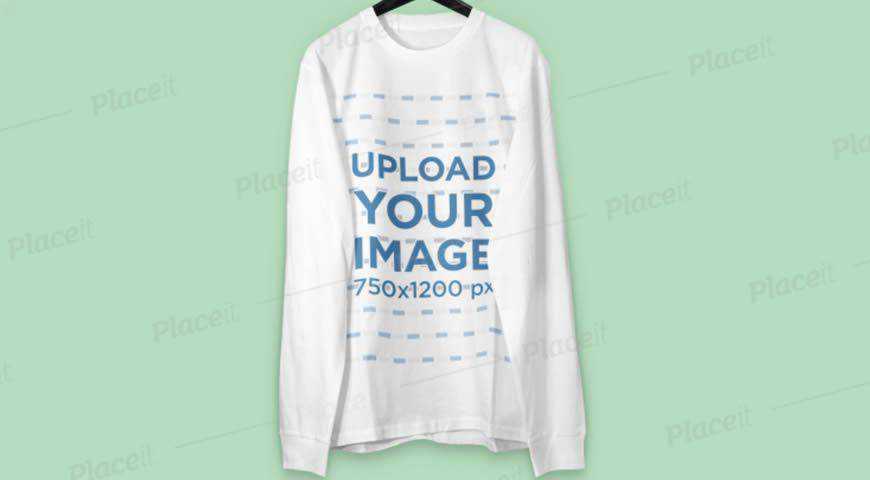 Sweatshirt on a Hanger Photoshop PSD Mockup Template
