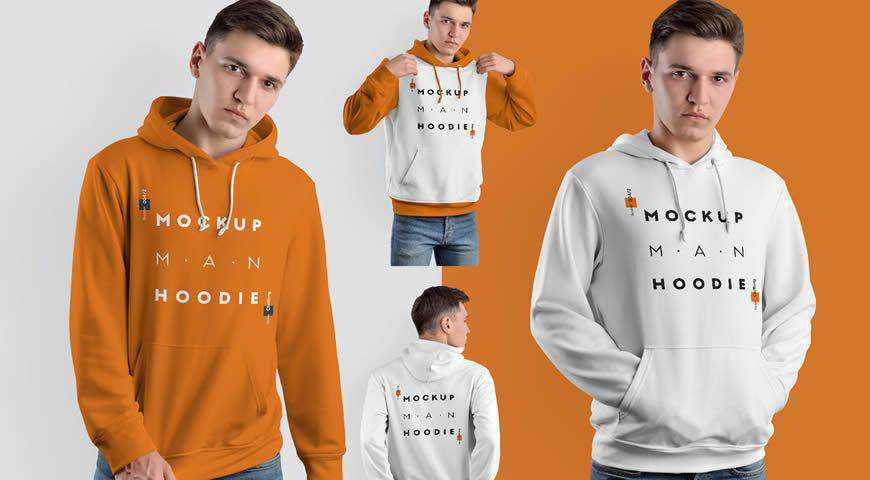 Hooded Sweatshirt Photoshop PSD Mockup Template