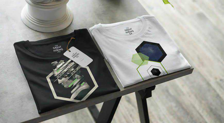 T-Shirt Shopping Photoshop PSD Mockup Template