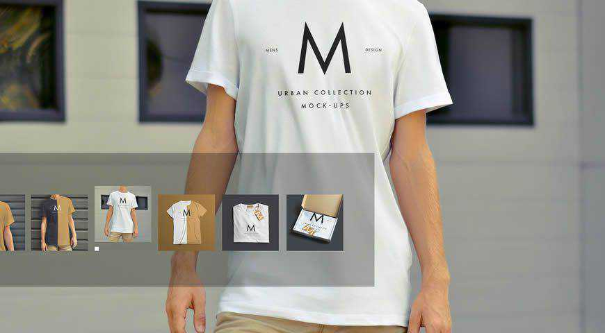 T-Shirt Product Photoshop PSD Mockup Template