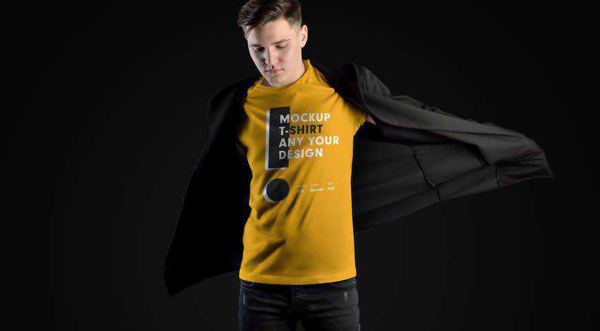 Model T-shirt Photoshop PSD Mockup Template