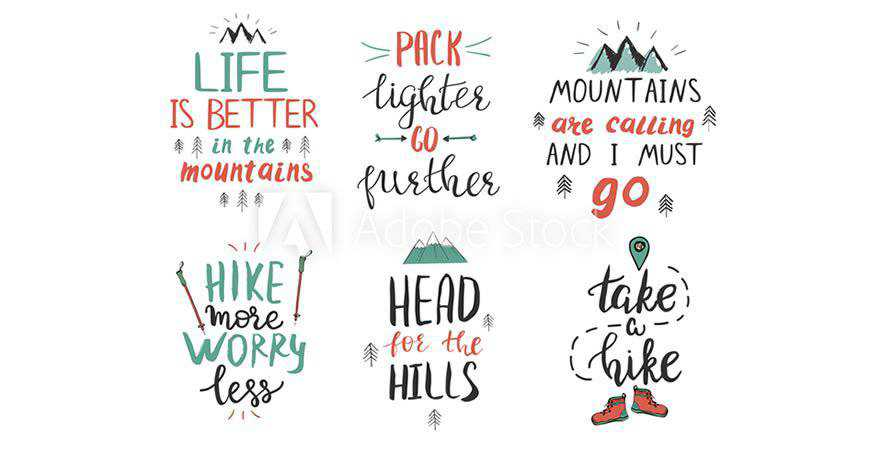 Mountains & Hiking Templates travel holidy vacation