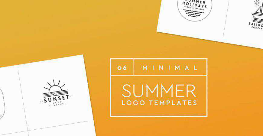 Minimal Summer Logo Templates travel holidy vacation