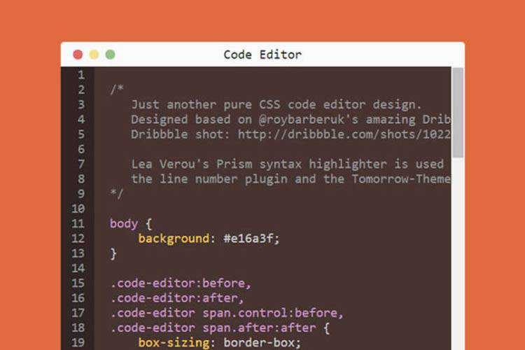 Example from 10 CSS & JavaScript Snippets for Beautiful Syntax Highlighting