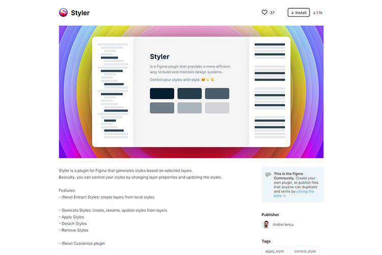 Example from Styler