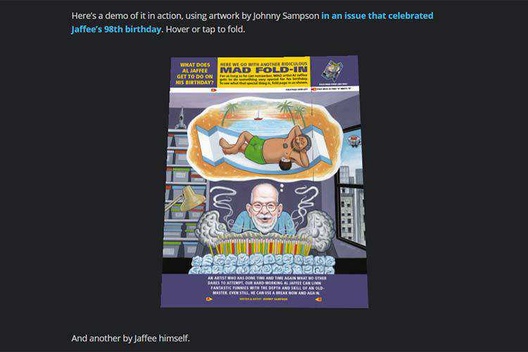Example from The Mad Magazine Fold-In Effect in CSS