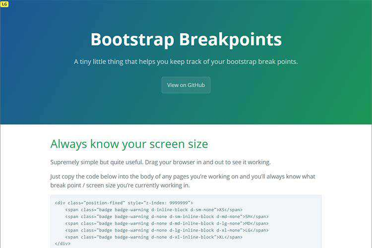 Example of Bootstrap Breakpoints