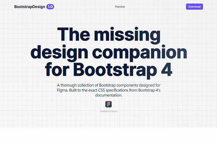 Example of Bootstrap Design