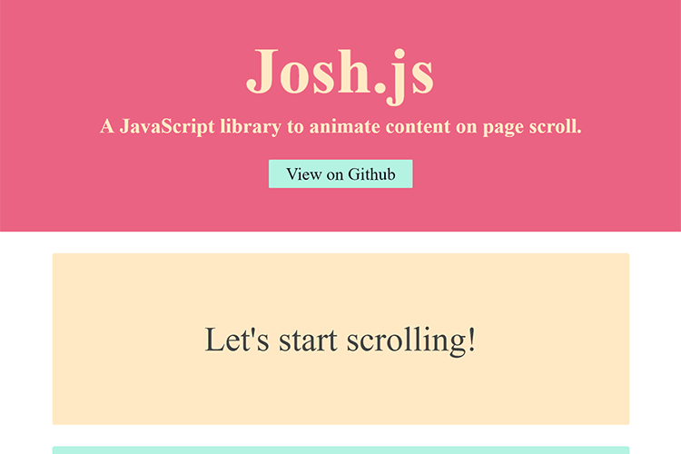 Example from Josh.js