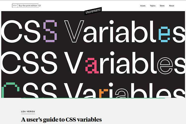Example from A user's guide to CSS variables