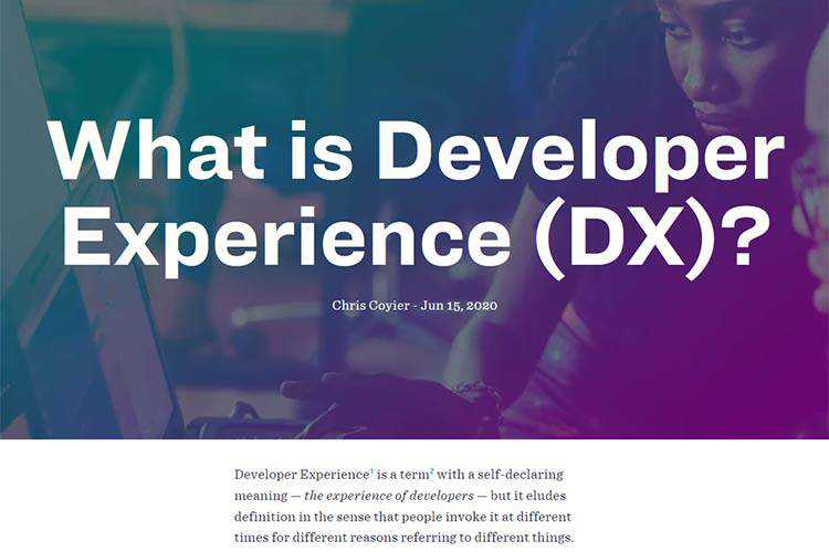 Example of What is Developer Experience (DX)?