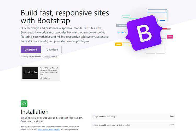 Example from Bootstrap 5 alpha!