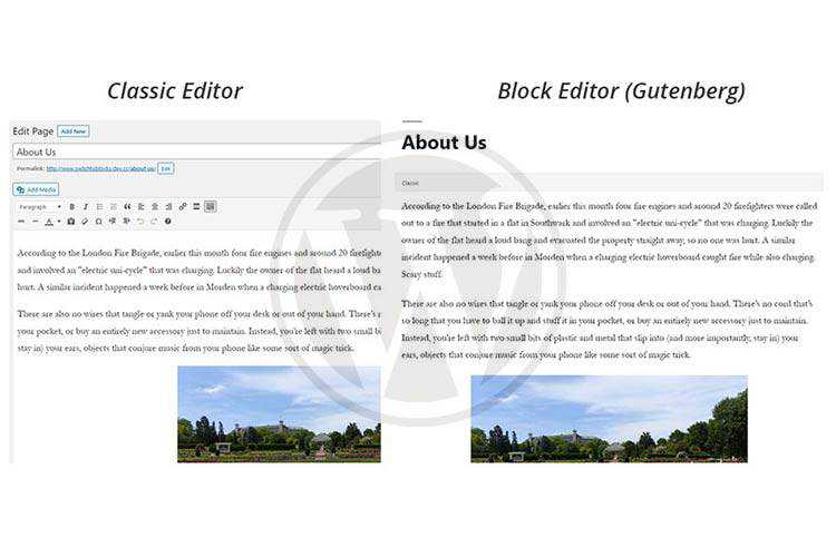 Example from Tips for Converting an Existing WordPress Website to Use the Gutenberg Block Editor