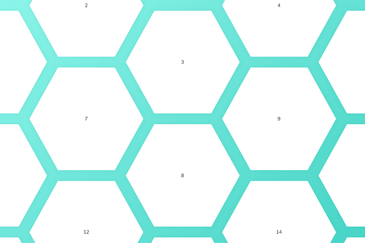 Example from Building a hexagonal grid using CSS grid