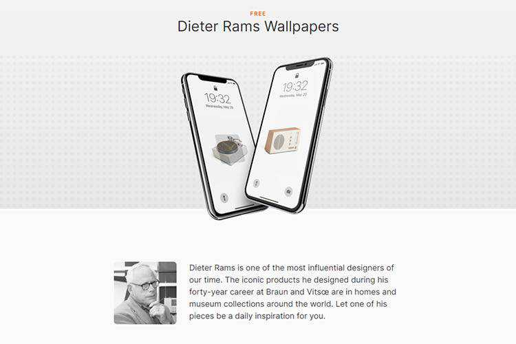 Example from Dieter Rams Wallpapers