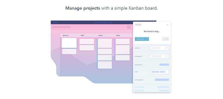 BugHerd Kanban Board example.