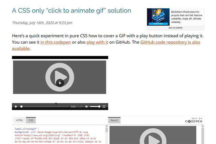 """Example from A CSS only """"click to animate gif"""" solution"""