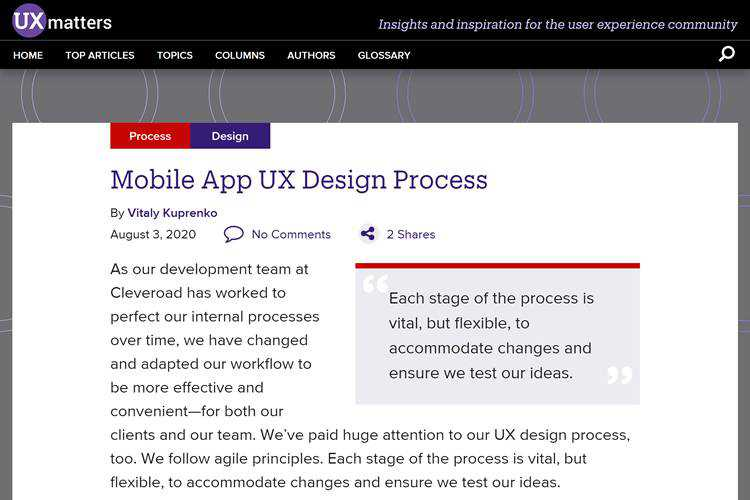 Mobile App UX Design Process