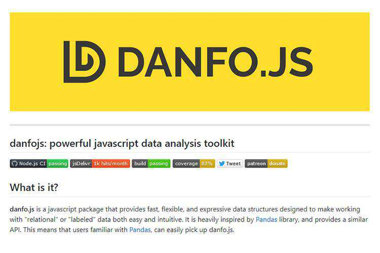Example from danfo.js