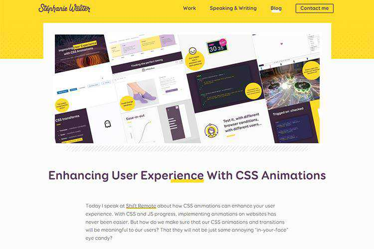 Example from Enhancing User Experience With CSS Animations