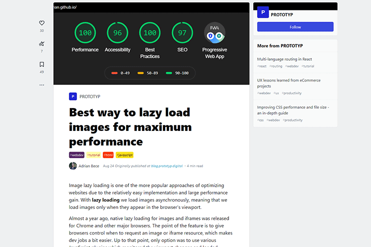 Example from Best way to lazy load images for maximum performance