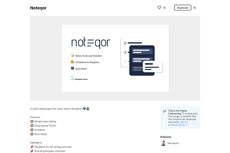 Example from Noteqor