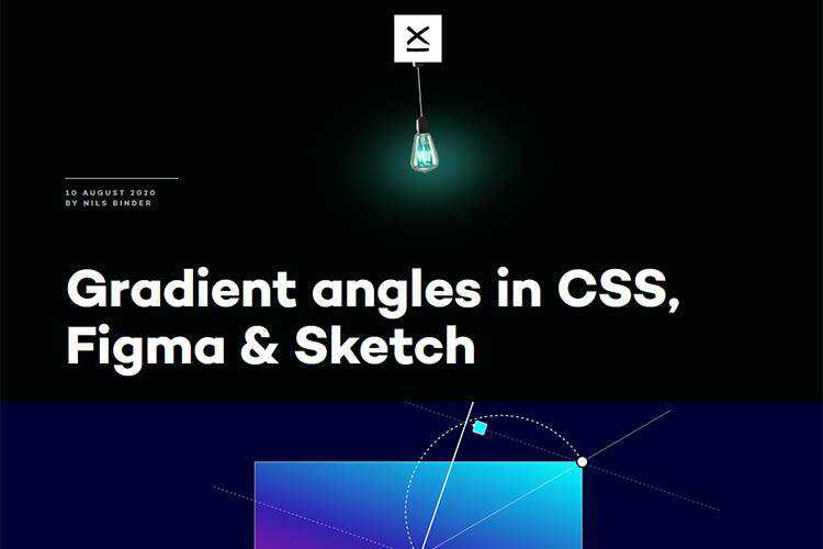 Example from Gradient angles in CSS, Figma & Sketch