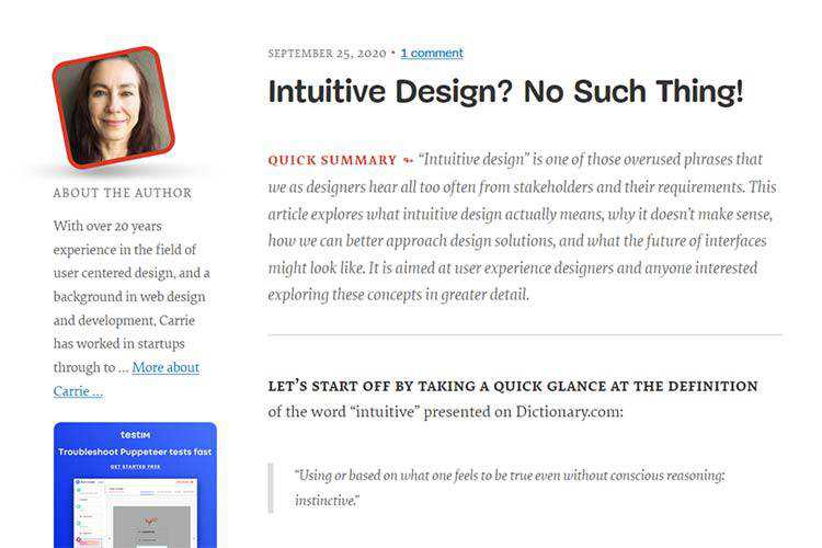 Example from Intuitive Design? No Such Thing!
