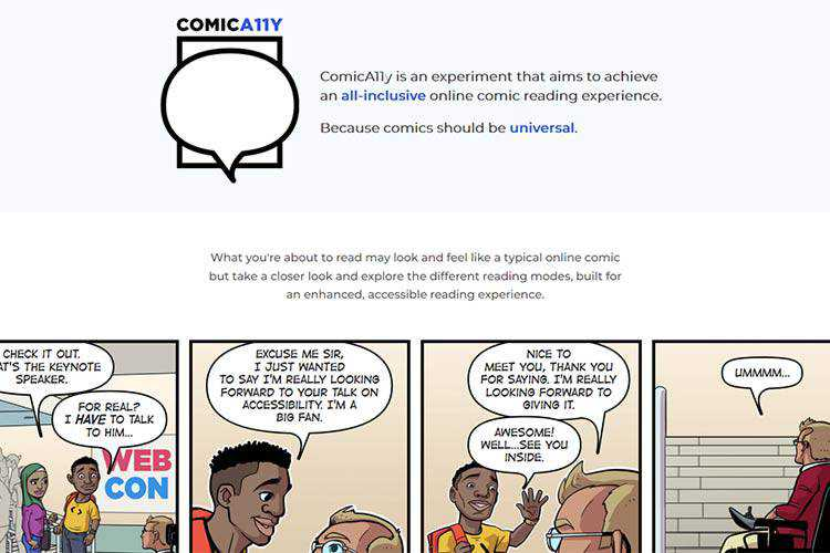 Example from ComicA11y