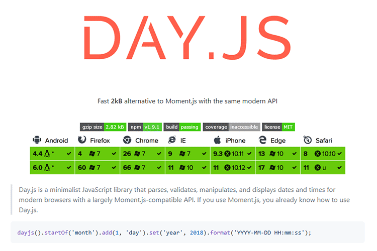 Example from Day.js