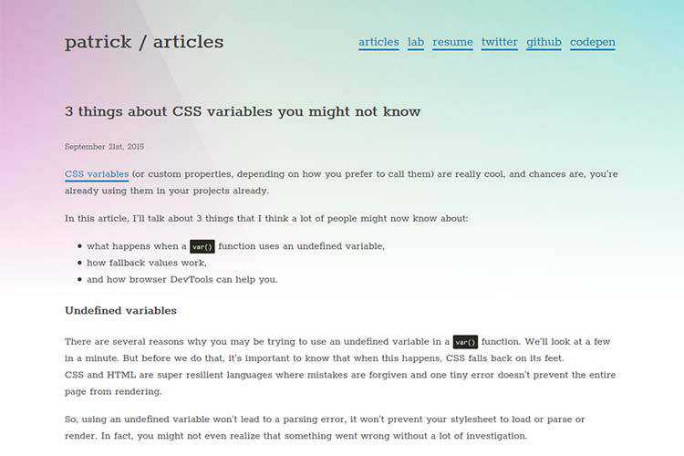 Example from 3 things about CSS variables you might not know
