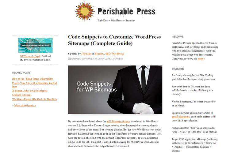 Example from Code Snippets to Customize WordPress Sitemaps (Complete Guide)