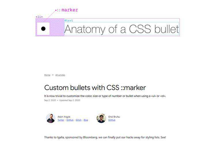 Example from Custom bullets with CSS ::marker