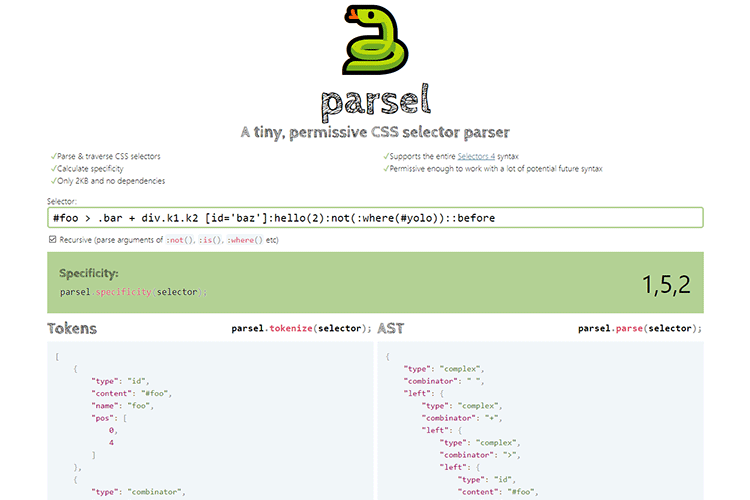 Example from Parsel